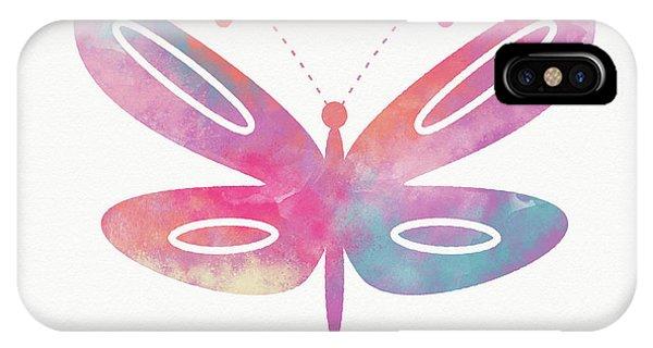 Wings iPhone Case - Watercolor Butterfly 2- Art By Linda Woods by Linda Woods