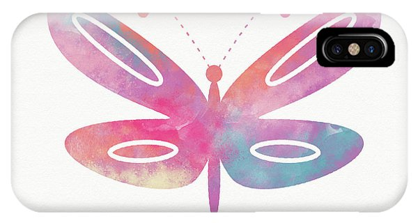 Pink iPhone Case - Watercolor Butterfly 2- Art By Linda Woods by Linda Woods