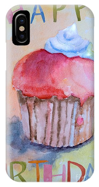 Watercolor Illustration Of Cake  IPhone Case