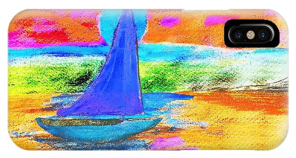 Watercolor Sailing IPhone Case