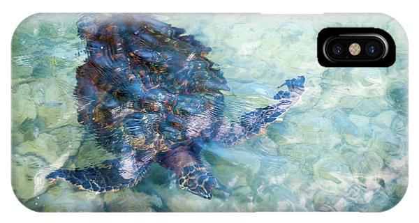 Watercolor Turtle IPhone Case