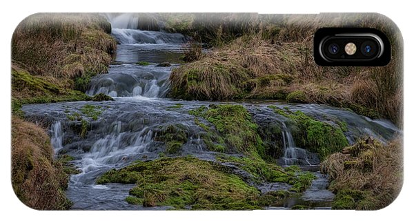IPhone Case featuring the photograph Waterfall At Glendevon In Scotland by Jeremy Lavender Photography