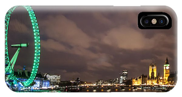 London Eye iPhone Case - Westminster And The London Eye by Dawn OConnor