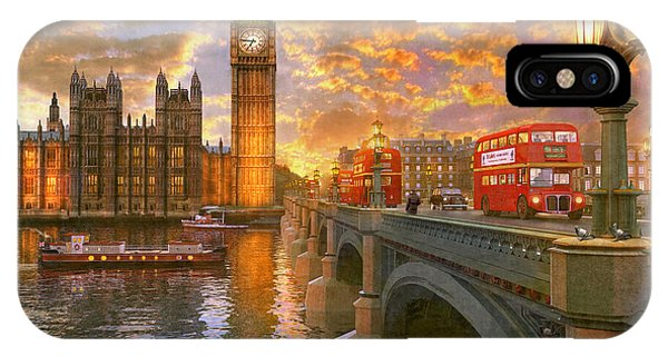 Pigeon iPhone Case - Westminster Sunset by Dominic Davison