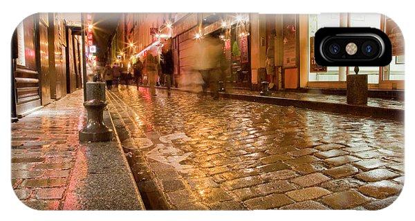 Wet Paris Street IPhone Case