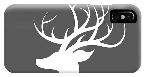 White Deer Silhouette IPhone Case