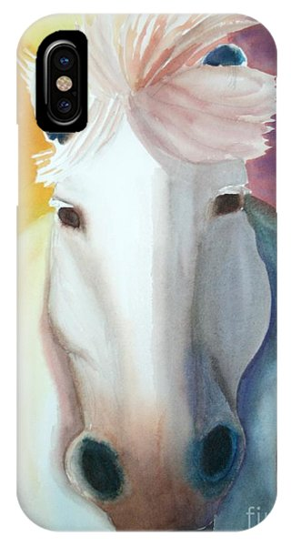 White Work Horse IPhone Case