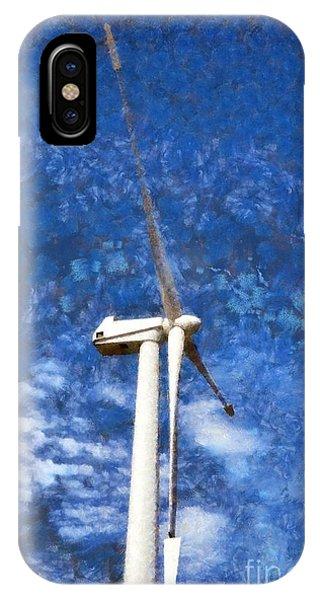 Pylon iPhone Case - Wind Turbine by George Atsametakis