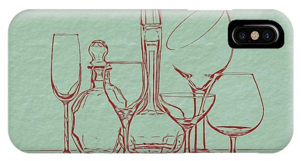 Vino iPhone Case - Wine Decanters With Glasses by Tom Mc Nemar