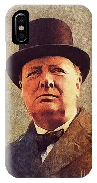 Prime Minister iPhone Case - Winston Churchill, Prime Minister by Mary Bassett