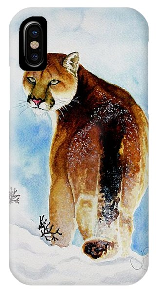 Winter Cougar IPhone Case