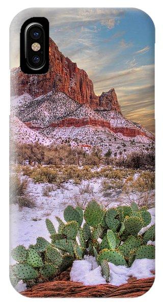 Winter In Zion National Park Utah IPhone Case