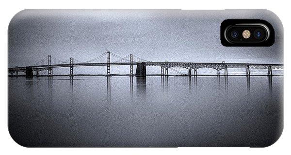 Chesapeake Bay iPhone X Case - Winter Morning by Robert Fawcett