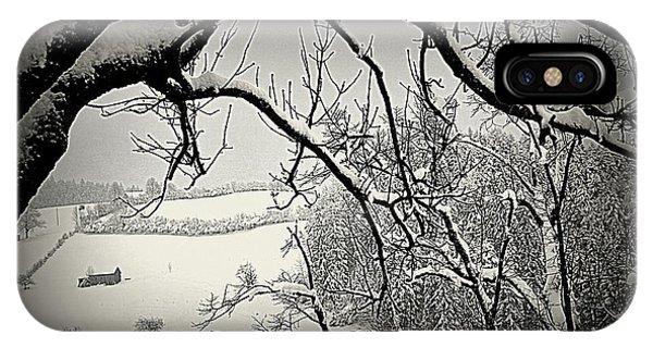 Winter Scene In Switzerland IPhone Case