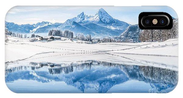 Winter Wonderland In The Alps IPhone Case