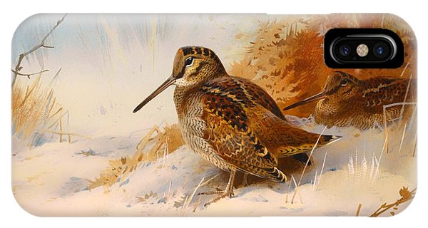 Woodcock iPhone Case - Winter Woodcock by Mountain Dreams