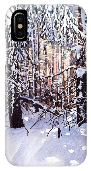 Snowy iPhone Case - Wintertime Painting by Suzann's Art