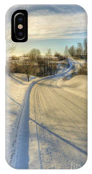 Salo iPhone Case - Wintry Road by Veikko Suikkanen