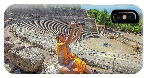 Woman Photographer Selfie IPhone Case