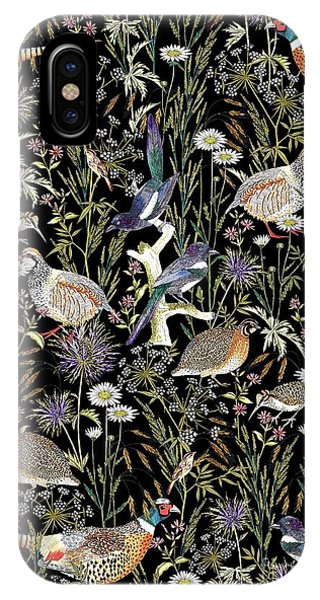 Woodcock iPhone Case - Woodland Edge Birds by Jacqueline Colley