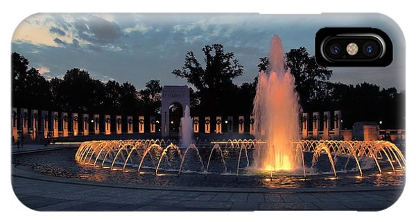 World War II Memorial Fountain IPhone Case