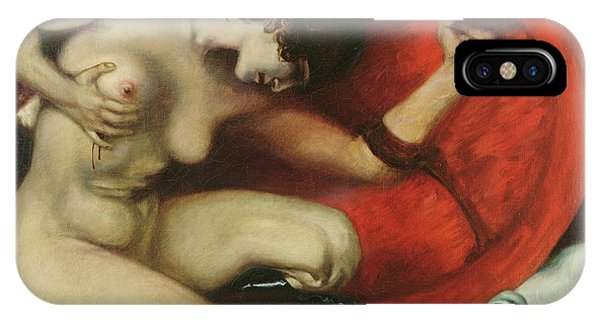 Centaur iPhone Case - Wounded Amazon by Franz von Stuck