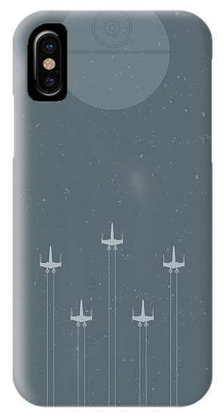 Astronaut iPhone Case - X-wing Attack by Samuel Whitton