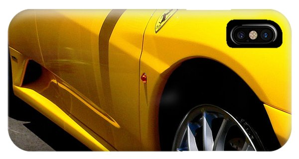 Yellow Ferrari IPhone Case