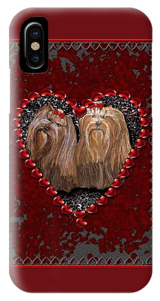 iPhone Case - Yorkie Heart by Michelle Audas