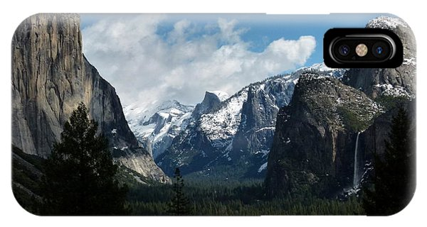 Yosemite Valley View In Winter IPhone Case