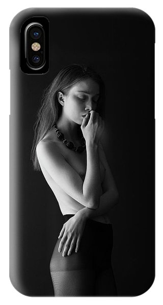 Young Woman In Pantyhose IPhone Case