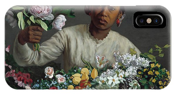 Young Woman With Peonies IPhone Case