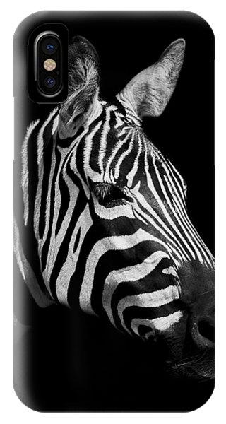 Equine iPhone Case - Zebra by Paul Neville