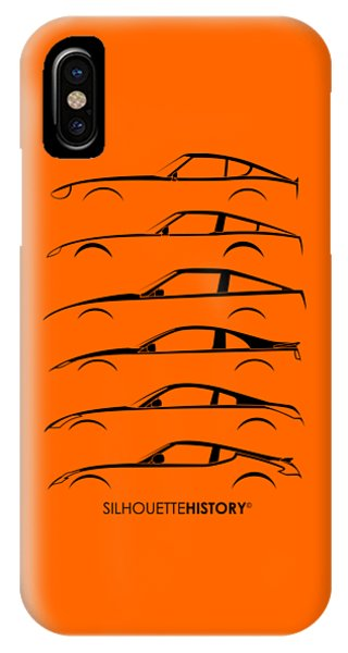Nissan iPhone Case - Zee Car Silhouettehistory by Gabor Vida