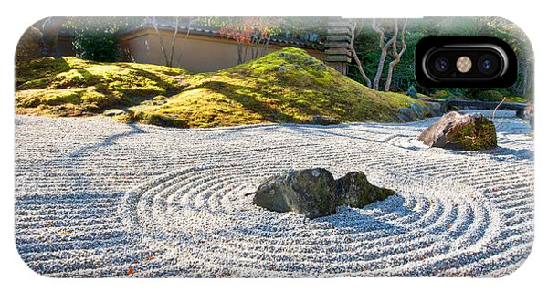 Zen Garden At A Sunny Morning IPhone Case