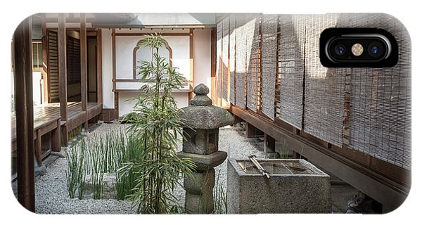Zen Garden, Kyoto Japan IPhone Case