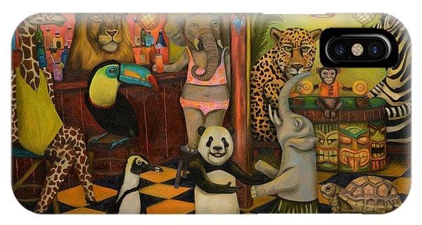 Tiki Bar iPhone Case - Zoobar by Leah Saulnier The Painting Maniac