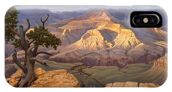 Canyon iPhone Case - Zoroaster Temple From Yaki Point by Paul Krapf