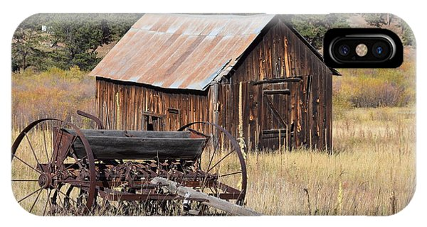 IPhone Case featuring the photograph Seed Tiller - Barn Westcliffe Co by Margarethe Binkley