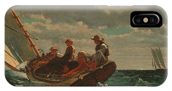 Ocean Breeze iPhone Case - Breezing Up  by Winslow Homer
