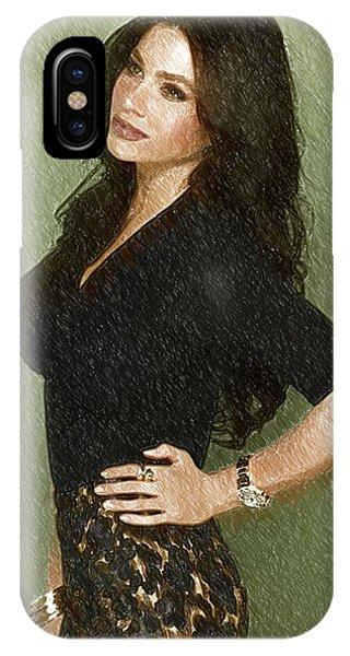 Shakira iPhone Case - Celebrity Sofia Vergara  by Elizabeth Simon