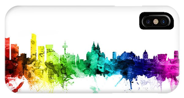 Michael iPhone Case - Liverpool England Skyline by Michael Tompsett