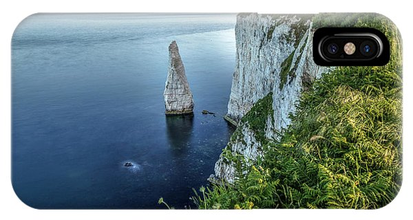 Swanage iPhone Case - Old Harry Rocks - England by Joana Kruse