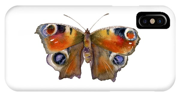 Peacock iPhone Case - 10 Peacock Butterfly by Amy Kirkpatrick