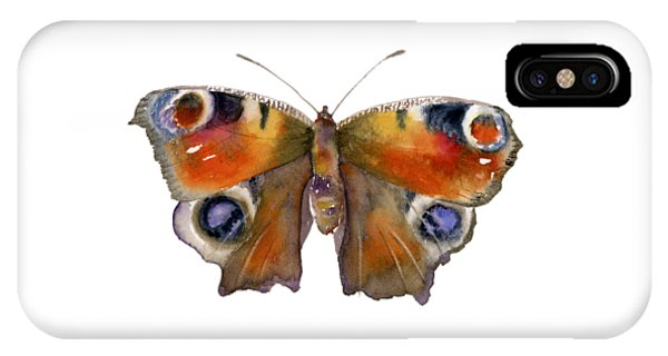 10 Peacock Butterfly IPhone Case