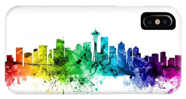 Seattle Washington Skyline IPhone Case