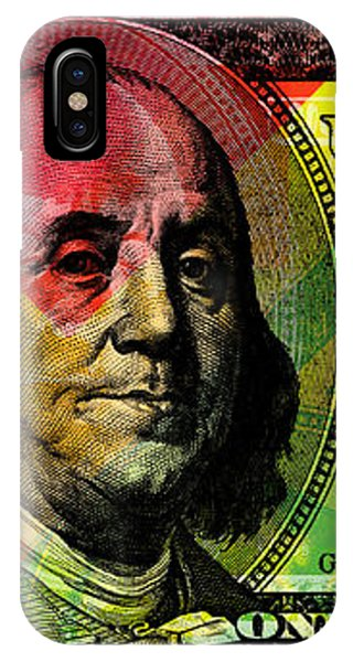 Benjamin Franklin - Full Size $100 Bank Note IPhone Case