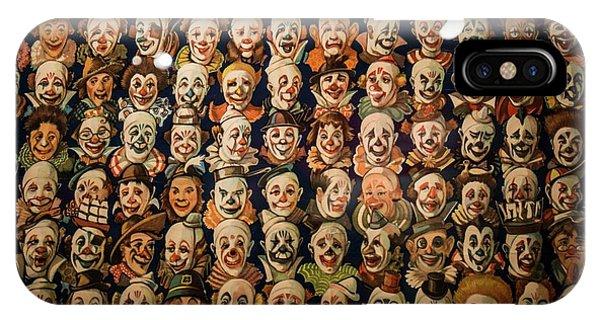 Barnum And Bailey iPhone Case - 100 Clowns by David Bearden