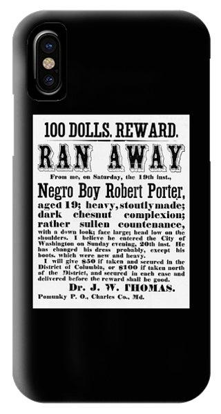 100 Dolls. Reward Ran Away IPhone Case