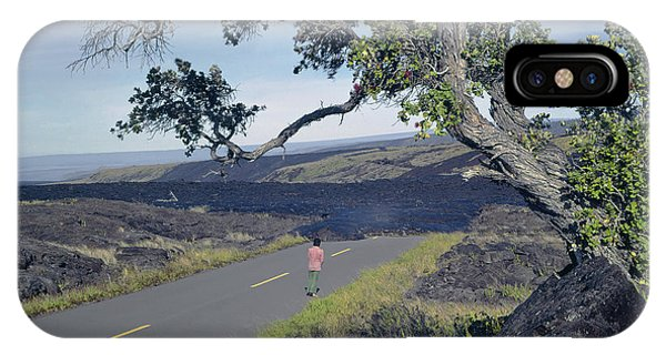 IPhone Case featuring the photograph 100924 Lava Covered Road Hi by Ed Cooper Photography